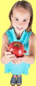 Little girl holding apple uid 4
