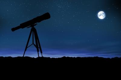 Telescope-moon-stars