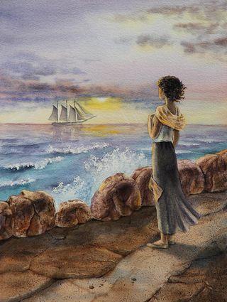 Watching a ship