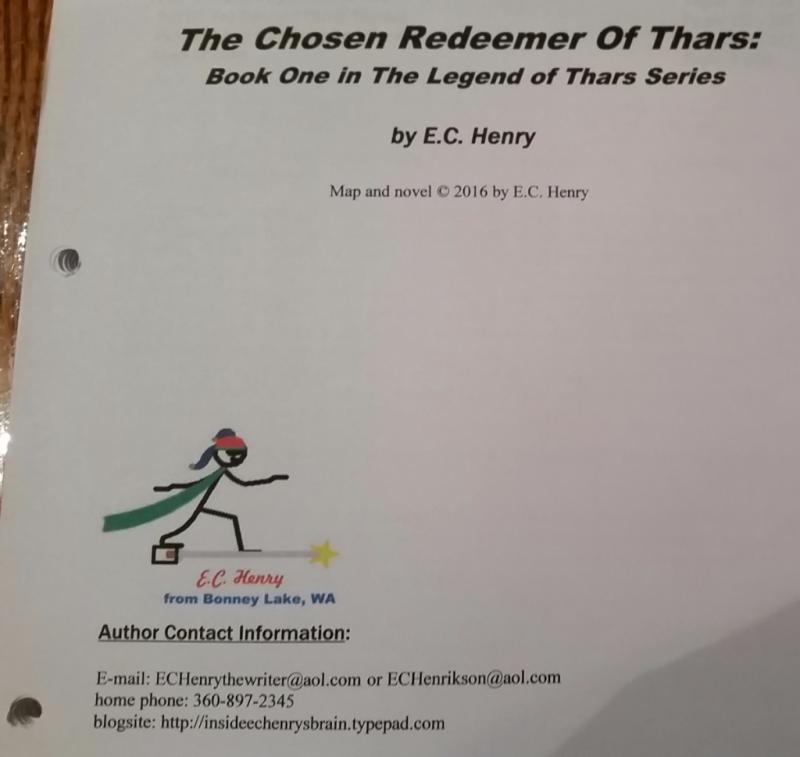 Novel's title page