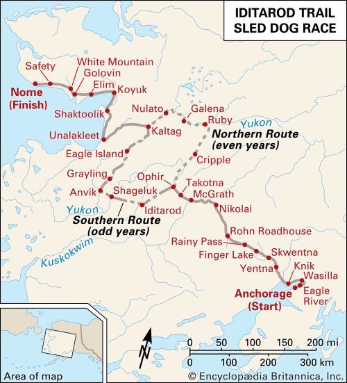 Iditarod-Trail-Sled-Dog-Race-route